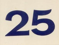 carte chiffre 25
