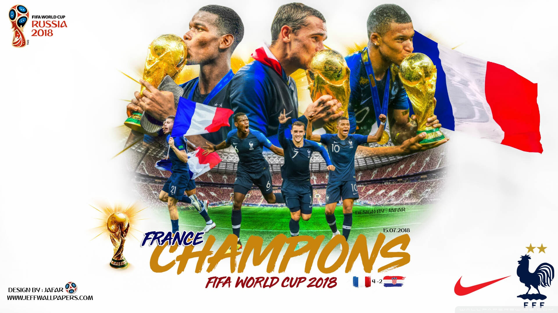 France Champions Fifa World Cup 2018 Ultra Hd Desktop Background