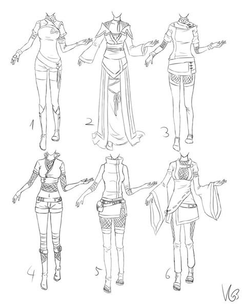 inspiration clothing manga art drawing anime girl