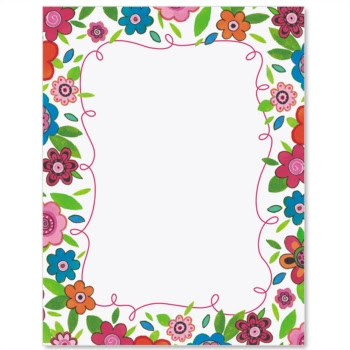 Fun Floral Paperframes Border Papers Paperdirect Clip Art Library