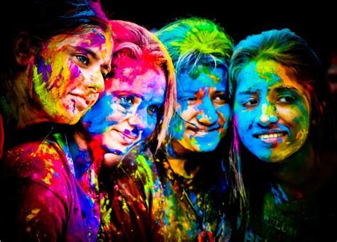 Holi   Open Air Festival of Colors ~ Violet Fashion Art