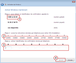 Comment activer un produit Microsoft au téléphone - Contacter le centre d'activation de produits Microsoft