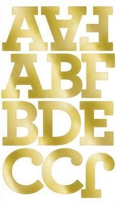Gold Foil Large Alphabet Sticker Decorations, Aurora on