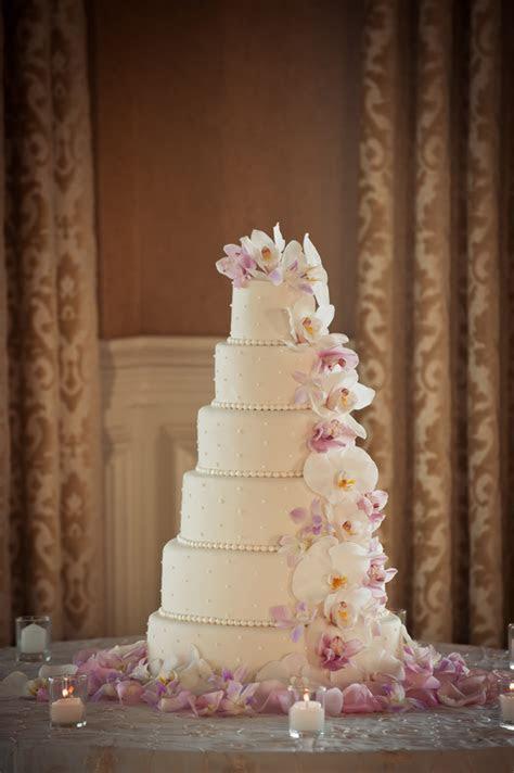 Cascading Orchid Wedding Cake   Elizabeth Anne Designs