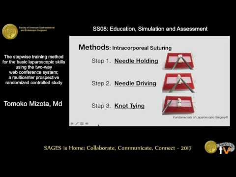 The stepwise training method for the basic laparoscopic skills using the 2-way web conference system