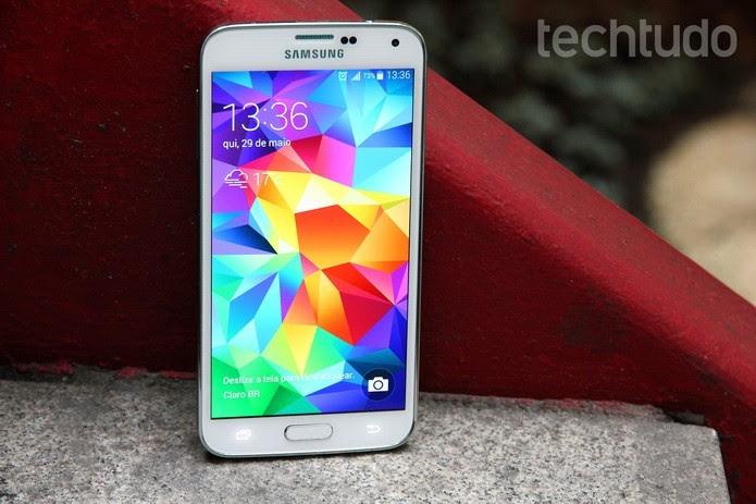 Smartphone da Samsung tem opção de sistema com acesso fácil (Foto: Luciana Maline/TechTudo)