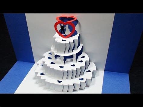 How to make a Wedding Cake Pop Up Card   FREE Template