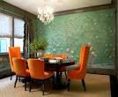 massucco warner miller dining room oval table crystal chandelier ...