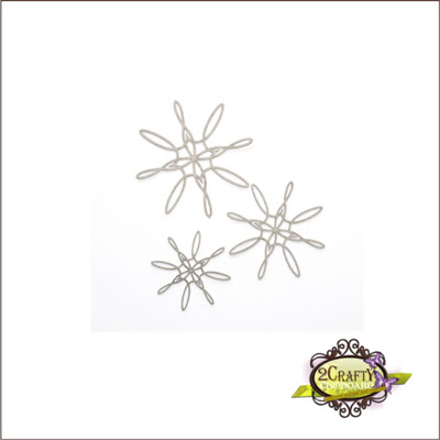 Spiral Snowflakes (unit of 3)
