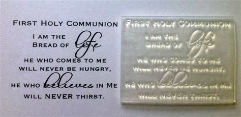 First Holy Communion verse, clear stamp