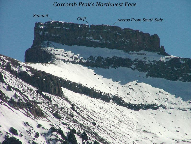 Coxcomb Peak's Northwest Face