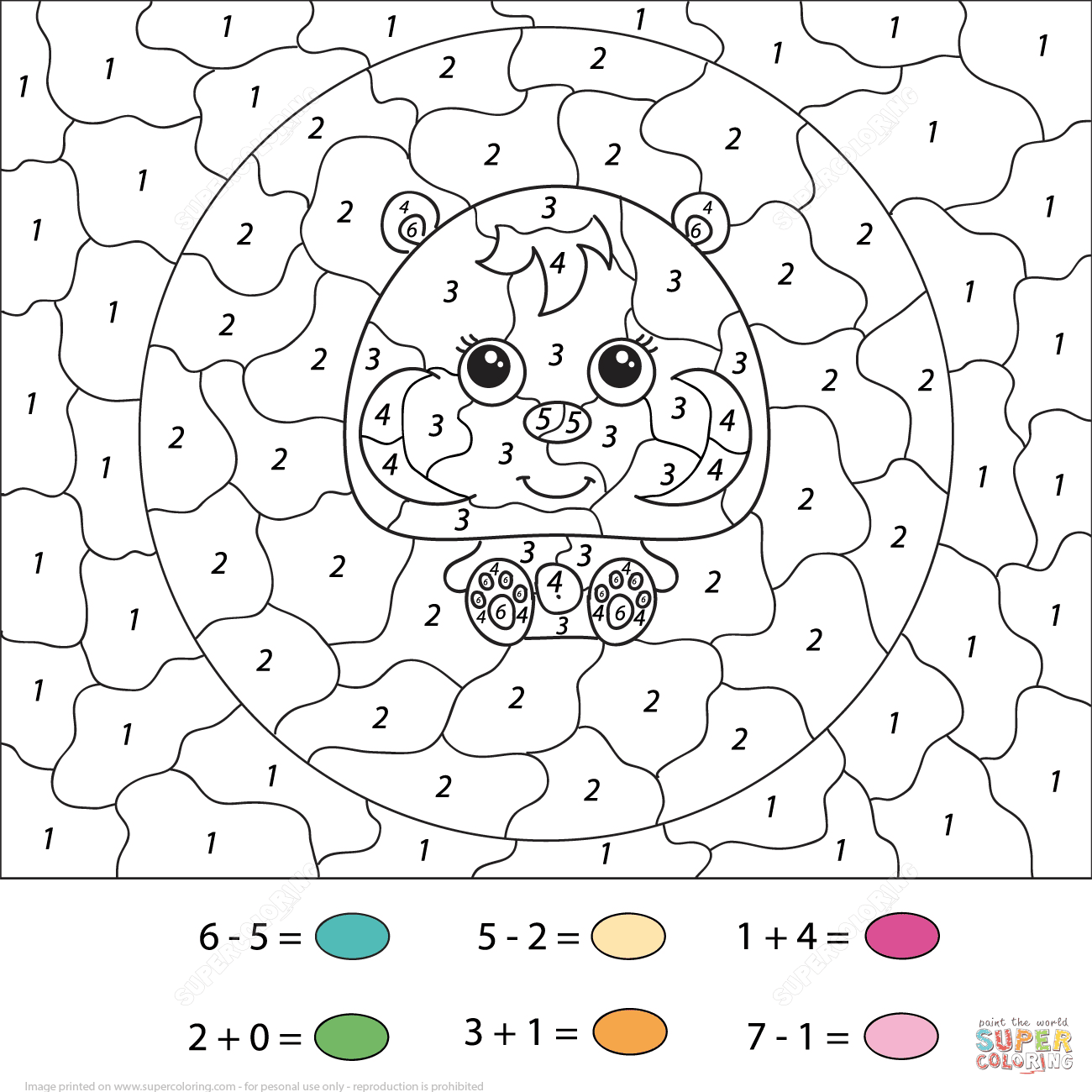 Free Color By Numbers Printables, Download Free Clip Art, Free ... | 1300x1300
