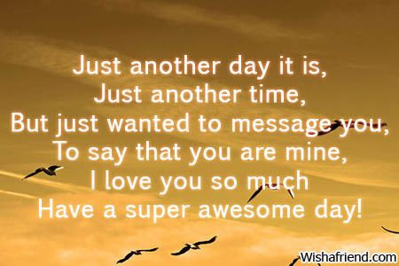 Good Day Messages For Him