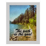 Gandhi quote poster nature art landscape
