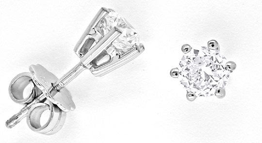 Foto 1, 0,90 CARAT BRILLANT-OHRRINGE, DIAMANT-OHRSTECKER LUXUS!, S6975