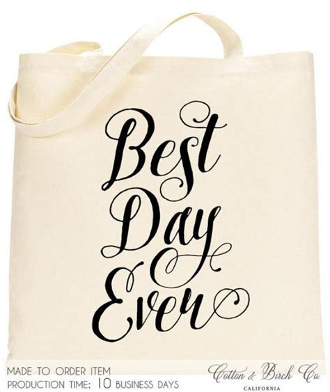 Wedding Tote Bag // Best Day Ever Tote // Wedding Welcome