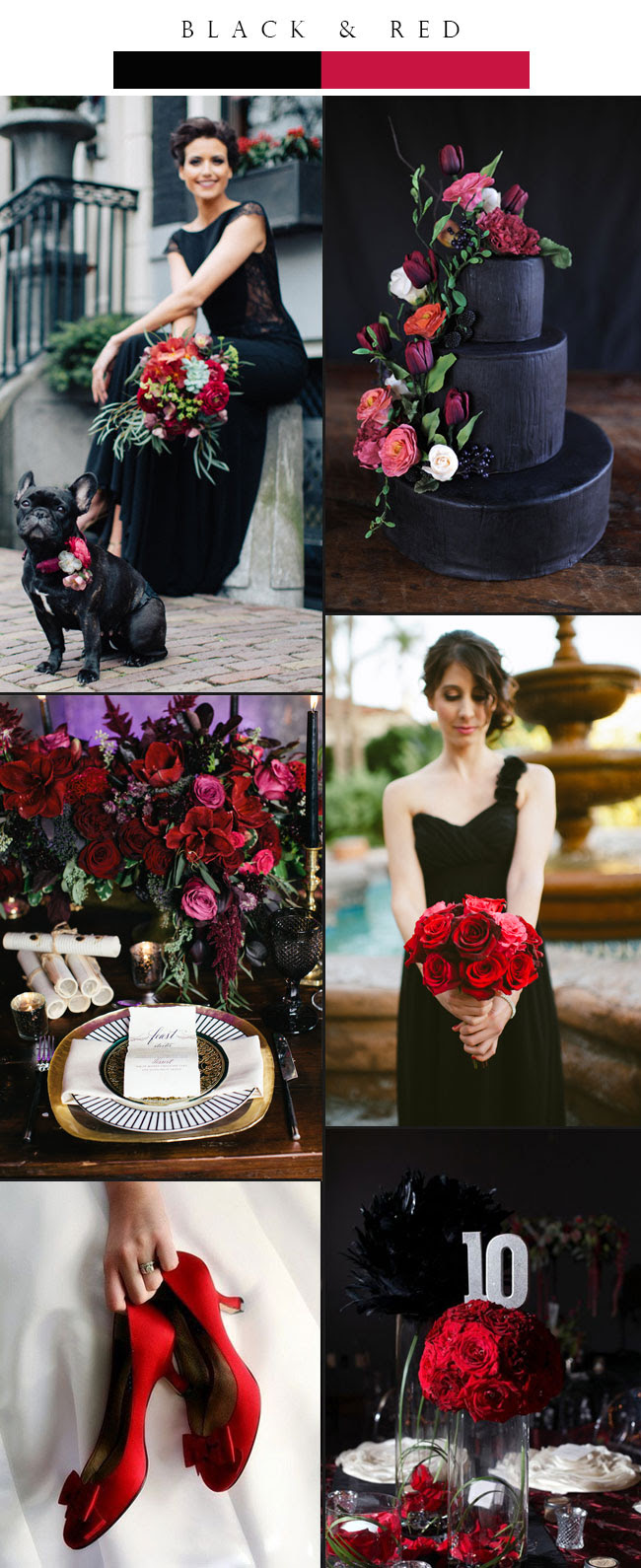 Top 3 Glamorous Black Winter Wedding Color Palette Ideas Stylish