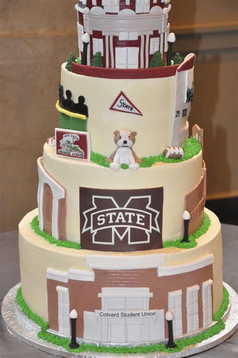 Mississippi State Groom Cake #groomcake #frostbakeshop