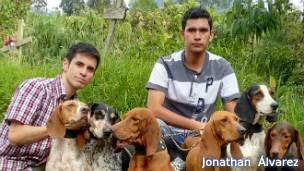 Investigadores Jonathan Álvarez y Richard Martínez