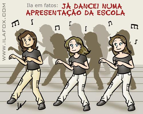 Já dancei Backstreet Boys numa apresentação da escola