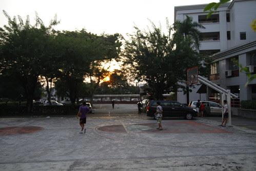 Basketball court at Chung Hwa High School