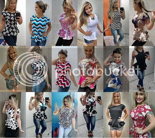 Resultado de imagem para blusa peplum 2017