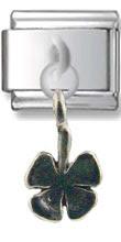 Four Leaf Clover Silver Charm