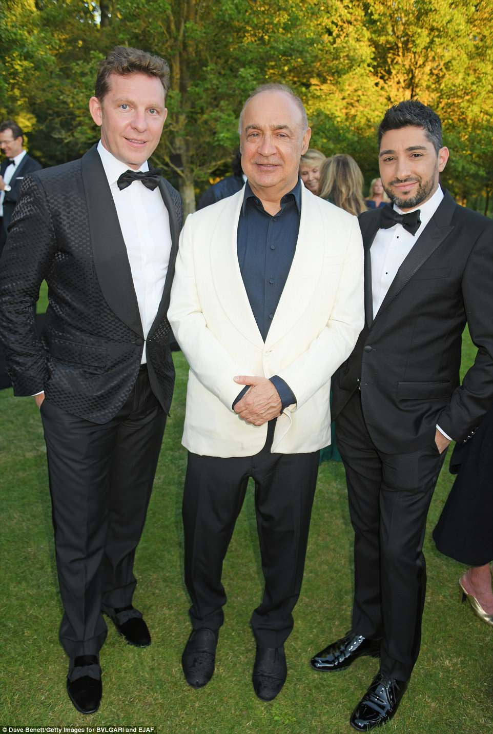 Catching up: (L to R) Nick Candy, Sir Len Blavatnik and Michael Russo caught up at the event