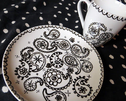 doodled dishes