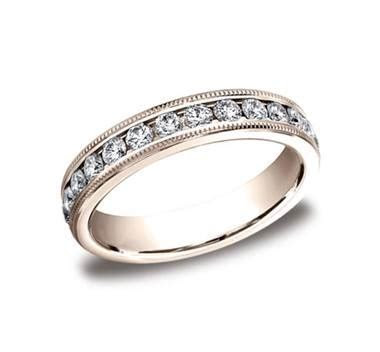 14Kt Rose Gold 4mm Channel Set Diamond Eternity Wedding