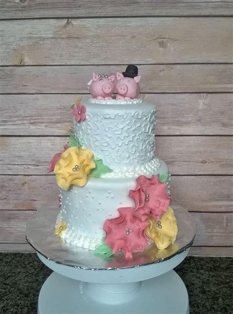 Pig Wedding Cake   CakeCentral.com