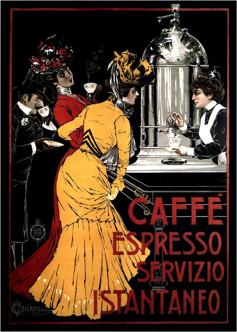 Caffe Espresso 1900 - Italy, Italian vintage old repro coffee poster   eBay