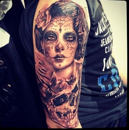 Sleeve Sugar Skull Tattoo Designs For Men Tattoo Bytes