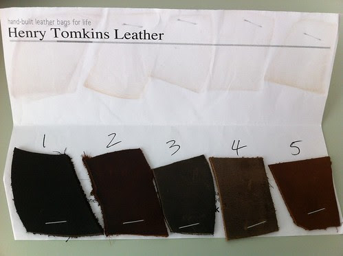 Henry Tomkins leather swatch
