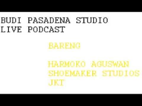 Budi Pasadena Studio Live Podcast Bareng Harmoko Aguswan