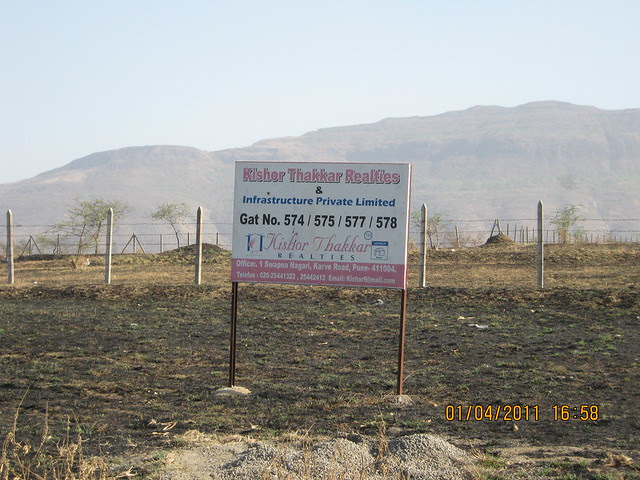 Kishor Thakkar Realities and Infrastructure Private Limited has already invested on the road to Dajikaka Gadgil Developers' Anant Srishti at Kanhe, near Talegaon, Pune