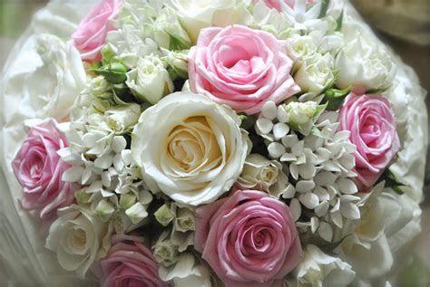 Pink and white wedding flowers   Heaton House Farm