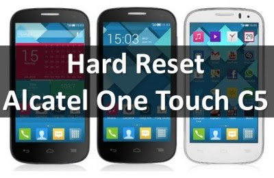 How to reset alcatel one touch to factory settings