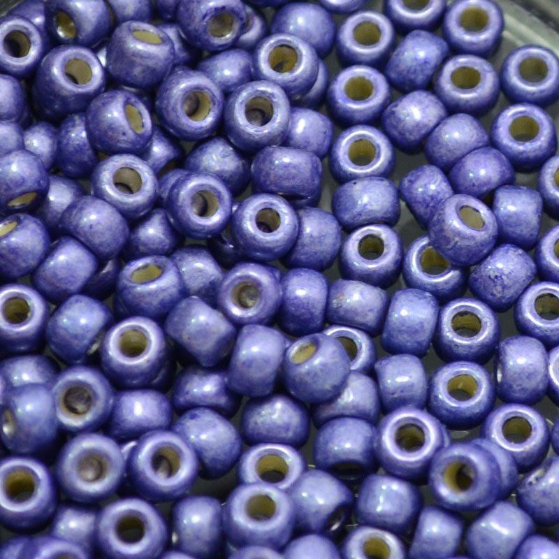 tb6rpf0567f Japanese Seedbeads - 6/0 Toho Seedbeads - Galvanized Matte Purple [Permanent Finish]