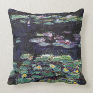 Water Lilies by Claude Monet throwpillow