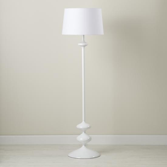 Kids' Lighting: Kids' White Floor Lamp and Green Two-Tone Shade in ...