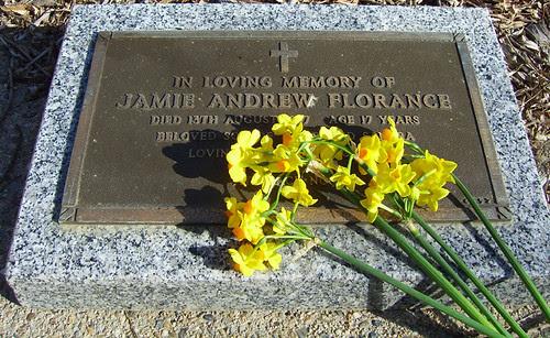 Jamie's grave