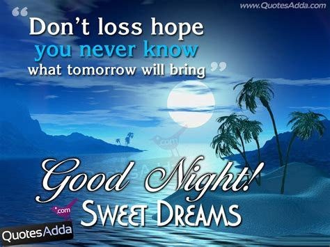Don't Loss Hope You Never Know What Tomorrow Will Bring