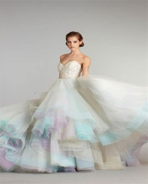 New Arrival A Line Colorful Wedding Dresses 2016