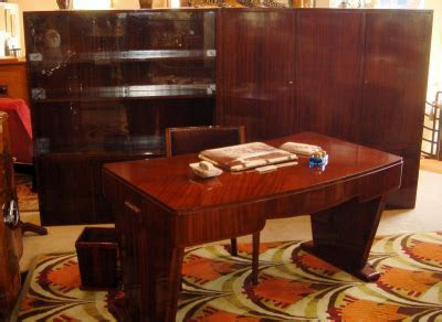 Art Deco Mahogany Executive Office Suite   Sold Items Desks & Cabinets   Art Deco Collection