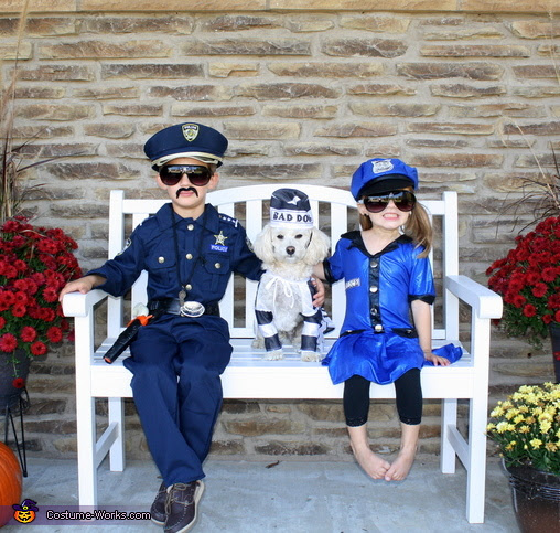 Bad Dog Arrested By Police Officers Halloween Costume Ideas For