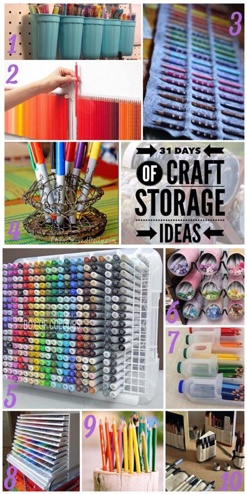 Pens And Markers Craft Storage Ideas Over The Moon