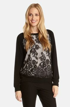 Karen Kane 'Riviera' Lace Top available at #Nordstrom