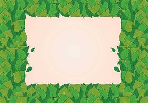 background  natural green leaves   vector