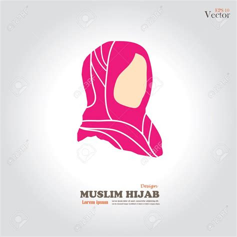 hijab style stock illustrations cliparts  royalty